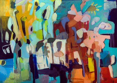 Maleri 120x150 cm Louise Maagard Design