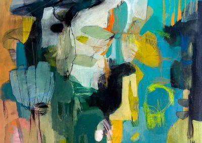 Maleri 80x100 cm Green Louise Maagaard Design